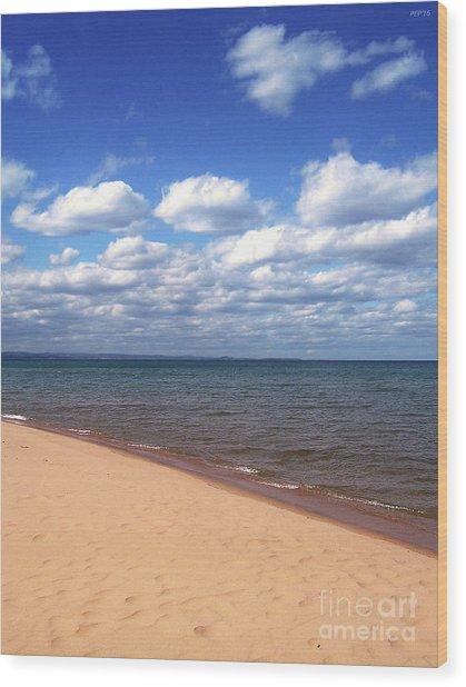 Lake Superior In Summer Wood Print