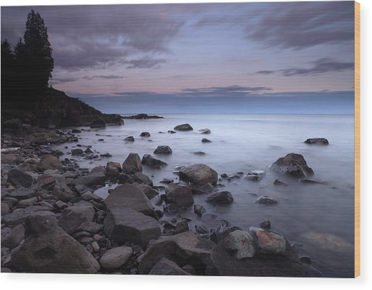 Lake Superior Shore Wood Print by Eric Foltz