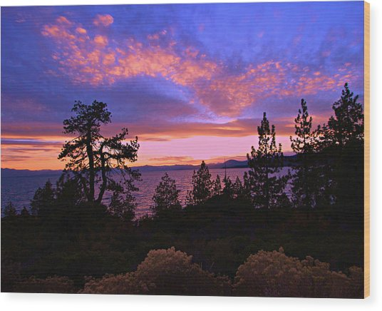 Lake Tahoe Crescendo Wood Print
