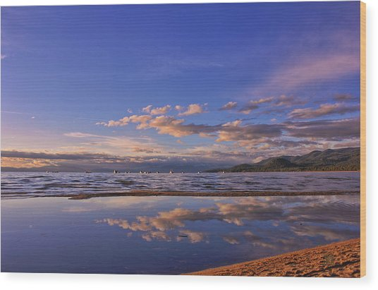 Lake Tahoe Evening Wood Print