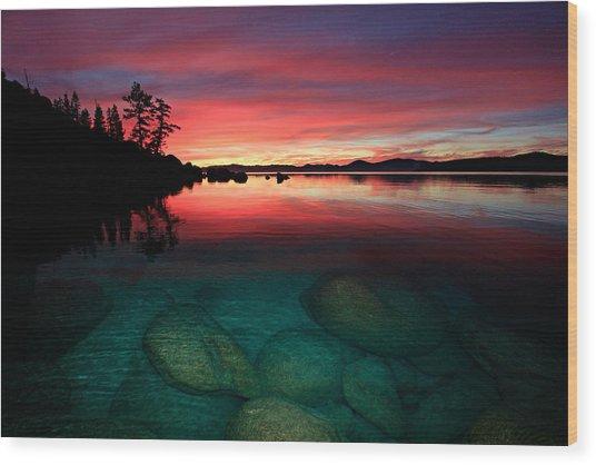 Lake Tahoe Jewels Wood Print