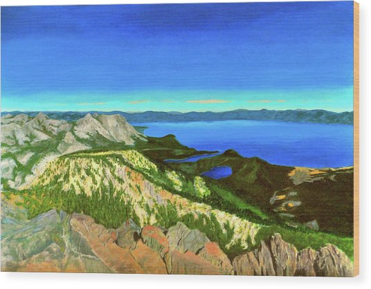 Lake Tahoe Panorama Wood Print