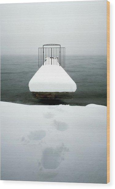 Lake Tahoe Pier Wood Print by Greg  West