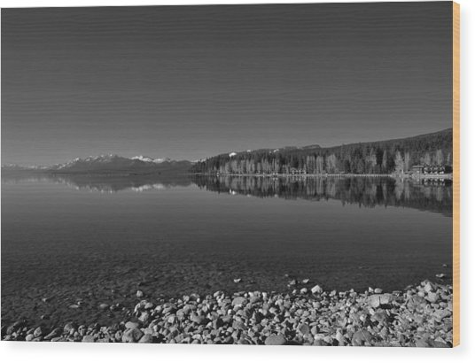 Lake Tahoe Reflections Wood Print