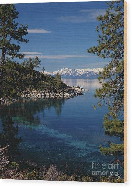 Lake Tahoe Smooth Wood Print