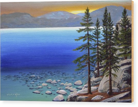 Lake Tahoe Sunrise Wood Print