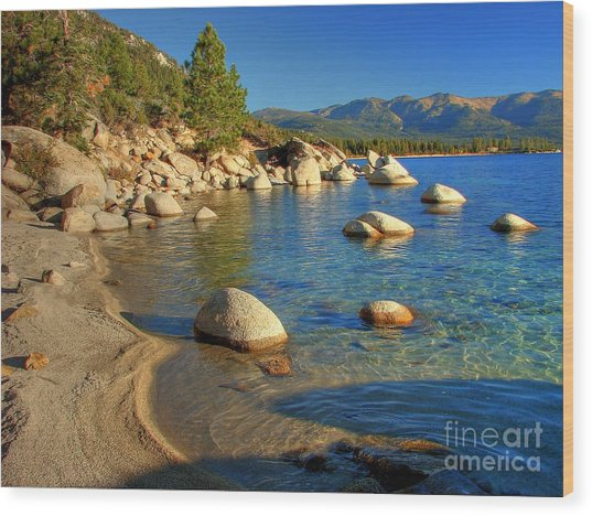 Lake Tahoe Tranquility Wood Print