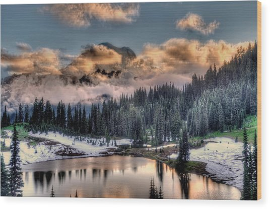 Lake Tipsoo, Mt Rainier Wood Print