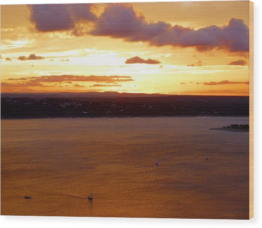 Lake Travis Sunset Wood Print