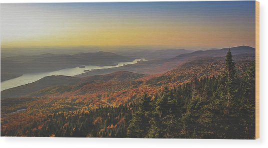Lake Tremblant At Sunset Wood Print
