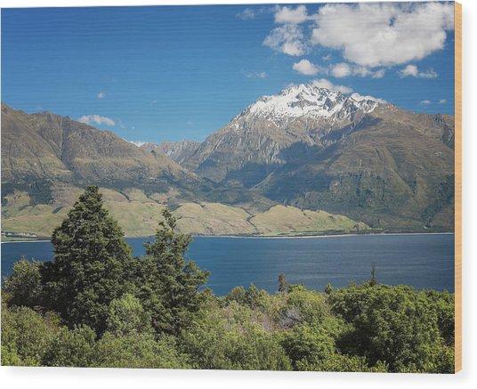 Lake Wanaka New Zealand Iv Wood Print