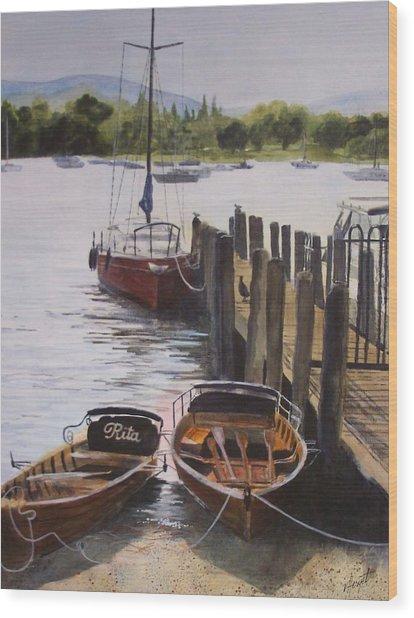 Lake Windermere Wood Print by Victoria Heryet
