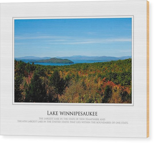 Lake Winnipesaukee - Fall Wood Print by Jim McDonald Photography