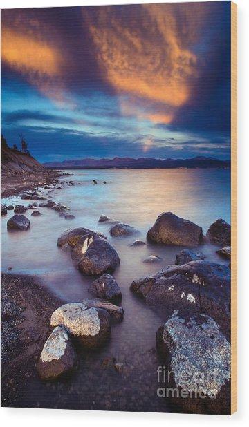 Lake Yellowstone Wood Print