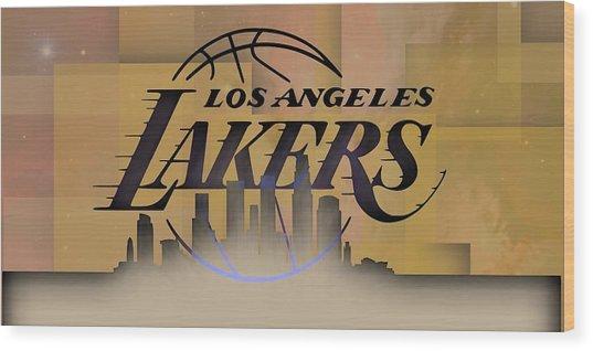 Lakers Skyline Wood Print
