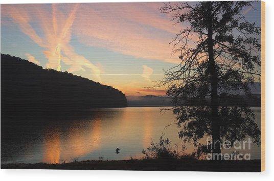 Lakeside Dreaming Wood Print