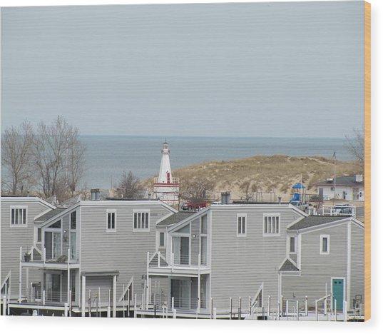 Lakeside Lighthouse  Wood Print