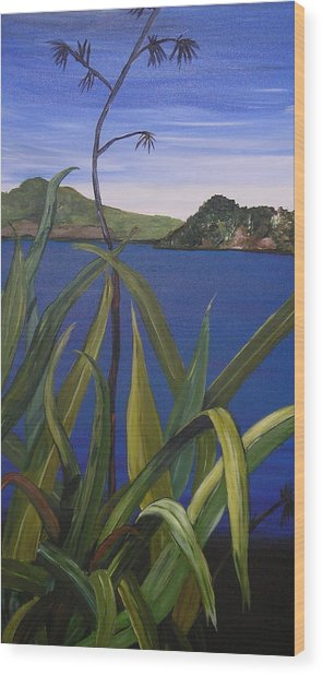 Lakeside Wood Print by Sher Green