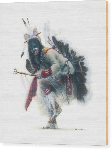 Lakota Dancer Wood Print