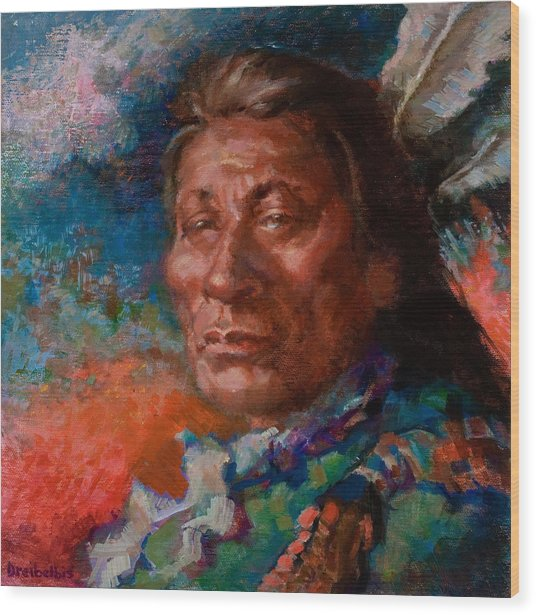 Lakota Man Wood Print