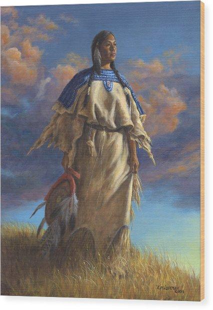 Lakota Woman Wood Print