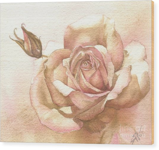 Lalique Rose Wood Print