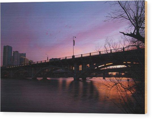 Lamar Blvd Bridge Wood Print