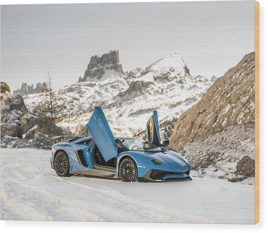 Lamborghini Aventador Sv Wood Print
