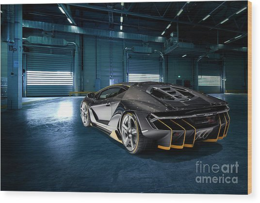 Lamborghini Centenario Lp 770-4 Wood Print