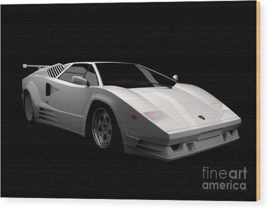 Lamborghini Countach 5000 Qv 25th Anniversary Wood Print