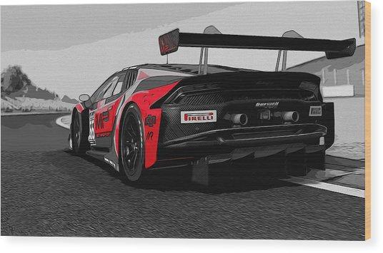 Lamborghini Huracan Gt3 Rear View Painting By Andrea Mazzocchetti