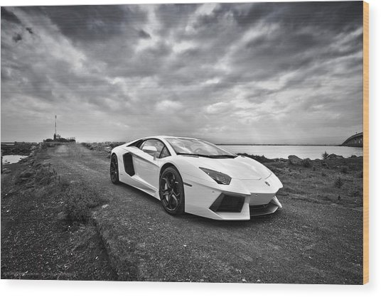 Wood Print featuring the photograph Lamborgini Aventador by ItzKirb Photography