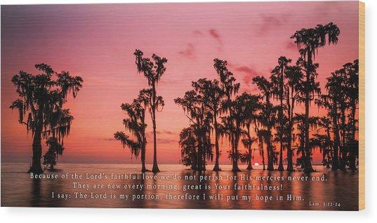 Lamentations 3 Wood Print