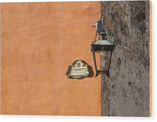 Lamp At The Corner. Wood Print
