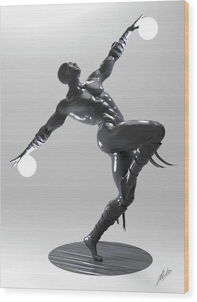 Lamp Man 04 Wood Print