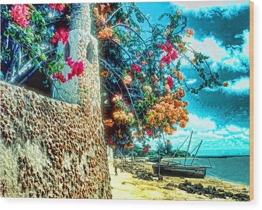 Lamu Beach Wood Print