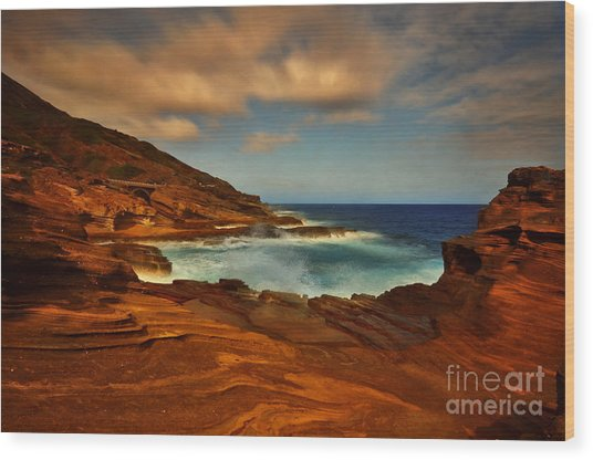 Lanai Lookout Hawaii  Wood Print