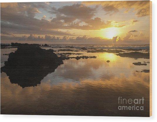 Lanai Sunset #1 Wood Print