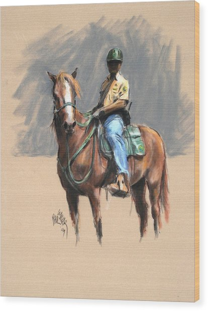 Lance With National Park Service Volunteer Aboard Wood Print by Paul Miller