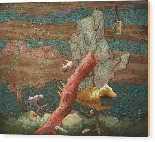 Land Lubber Wood Print