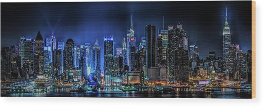 Land Of Tall Buildings Wood Print