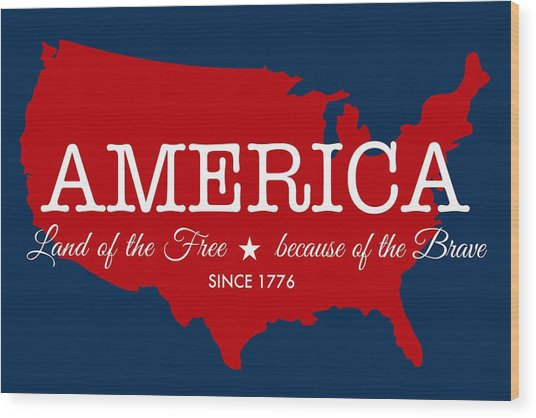Land Of The Free Wood Print