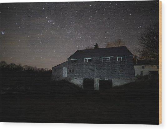 Landfall At Night Wood Print