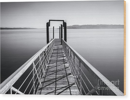 Landing Dock Wood Print