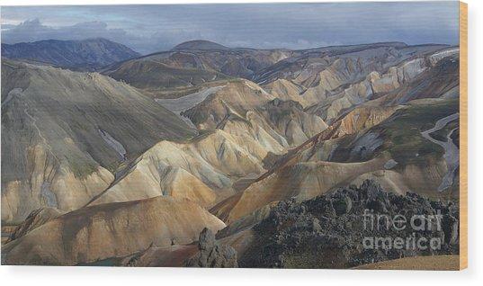 Landmannalaugar Rhyolite Mountains Iceland Wood Print