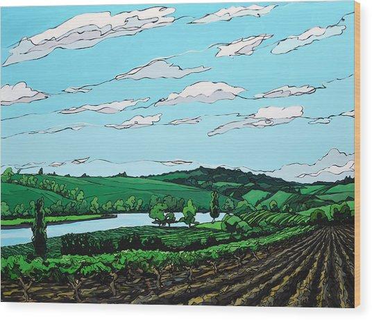 Landscape 108 Wood Print