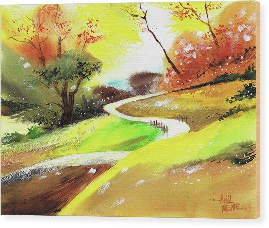 Landscape 6 Wood Print