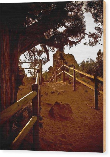 Landscape Arch 4 Wood Print