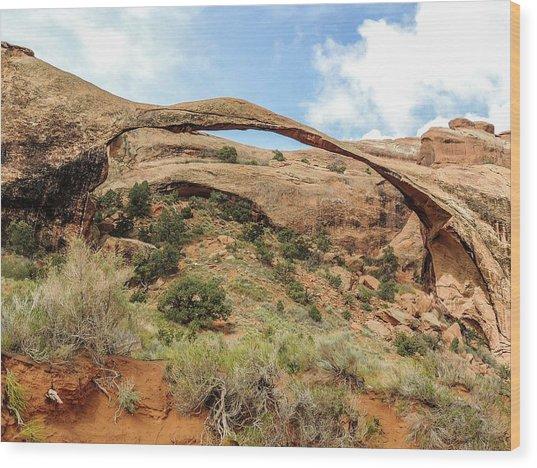 Landscape Arch Wood Print