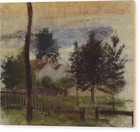 Landscape At Louveciennes Wood Print